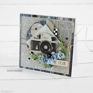 ręcznie robione scrapbooking kartki kartka urodzinowa z aparatem foto, 480