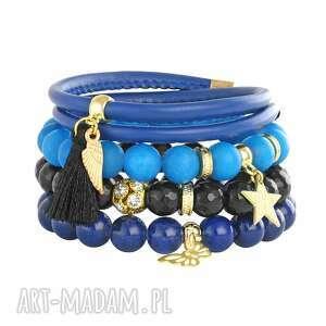 riverside carobon , chwost, rzemień, jadeit, gwiazdka bransoletki biżuteria