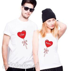 koszulki dla par serce z waszymi imionami, ślub, rocznicq, love