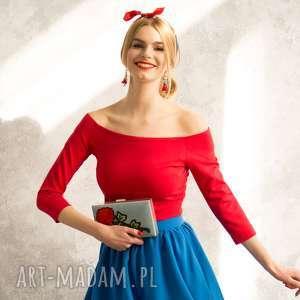 kasia miciak design czerwona bluzka hiszpanka, bluzka, czerwona, dopasowana