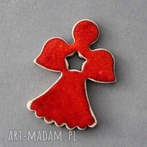 magnesy aniołek-magnes ceramiczny, minimalizm, lodówka, święta, prezent, dodatek