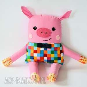Chrumka, świnka z klasą - Antek 38 cm, świnka, maskotka, przytulanka, kolorowa