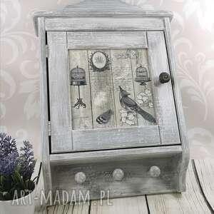 dekoracje duża drewniana szafka na klucze dr25, szafka, skrzynka, pudelko