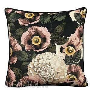 poduszka welur maki 45x45cm w kwiaty, welurowa
