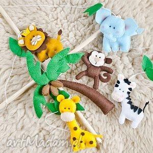 karuzela nad łóżeczko - safari - wzÓr - karuzela, ozdoba, zwierzątka
