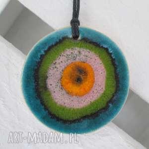 wisiorki energetyczny wisiorek 2 w 1, ceramiczny, wisior, kolorowy, dwustronny