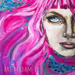 adriana laube art i see you obraz farbami akrylowymi na płótnie 100x70cm artystki