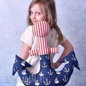 poduszka dziecięca kotwica, kotwica poduszka, wzór marynistyczny, dekoracja