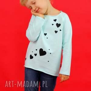 ubranka bluzka dziewczęca z długim rękawem nadrukiem, bluzka, bluza, dziecko