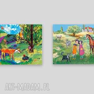 pokoik dziecka 2 plakaty do dziecięcego pokoju, obrazki pokoiku