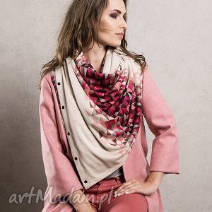 handmade chustki i apaszki szal etola otulacz pareo kamizelka pink triangle