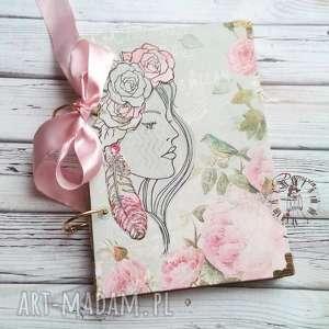 stylowy notes / pamiętnik różany zapach tego lata, kwiaty, dziewczyna, urodzinowy
