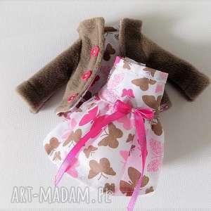 ZESTAW UBRANEK, lalka, zabawka, ubranka, sukienka, płaszczyk, dziecko