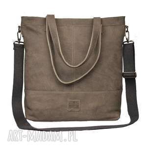 Prezent lekka, gustowna skórzana torba w charakterze worka, torba, torebka, worek