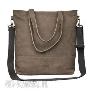 handmade torebki lekka, gustowna skórzana torba w charakterze worka