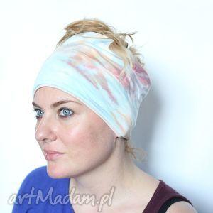 opaska na włosy ręcznie farbowana, opaska, bawełna, farbowane, etniczna, sport, mama