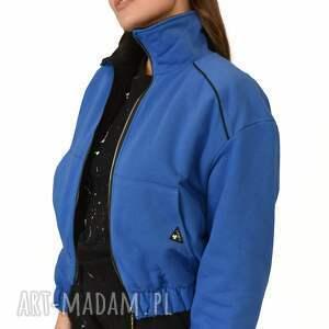 kurtka bomberka ciepła capri szafir, kurtka, sukienka, komplet, płaszcz, spodnie