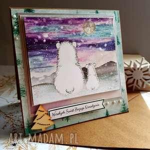 kartka świąteczne misie, święta, grafika, życzenia, prezent, boże