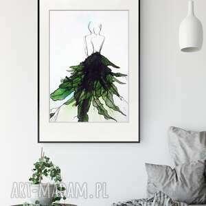 obraz ręcznie malowany 50x70 cm, abstrakcja kobieta, 2582774, skandynawski