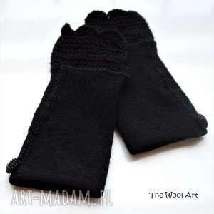 rękawiczki mitenki, rękawiczki, na-ręce, dodatki, na-szydełku