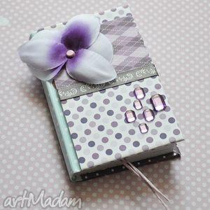 wrzosowisko fioletowy storczyk, notes, scrapbooking, prezent, scrap