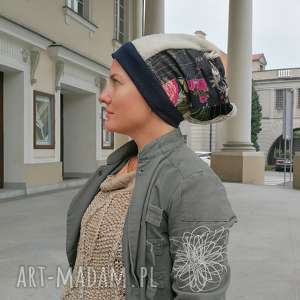 Ruda Klara? czapka turbanowa etno boho patchwork