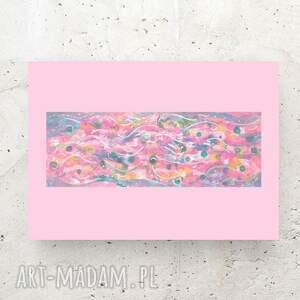 pastelowa abstrakcja, nowoczesna grafika na ścianę, abstrakcyjny rysunek