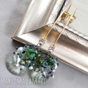 ametyst, perły i złoto, ekskluzywne, eleganckie, grona, kobiece, perły