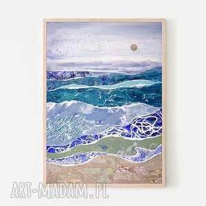 plakaty plakat 100x70 cm - pejzaż morski