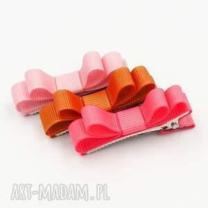 spinki do włosów kokardki florence pink, spinki, kolorowe, kokardki