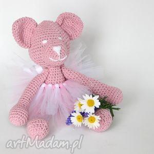 daisy różowa miśka baletnica, miś, maskotka, przytulanka, urodziny, roczek