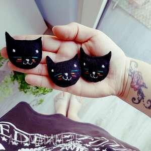 filcowa broszka kot benek, broszka, filc, filcowa, czarna, kot, kotek