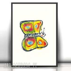 Motylek plakat do dziecięcego pokoju, obrazek z motylkiem, motyl dla
