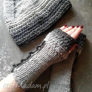 handmade rękawiczki komplet czapka i mitenki zamówienie p. ewa