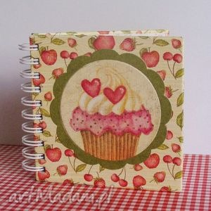 mały notesik kulinarny - serduszka na słodko, notesy, kulinarny, przepiśnik