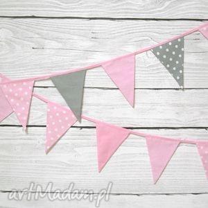 Girlanda różowo-szara, girlanda, pokoik, różowa, szara, dziecięca