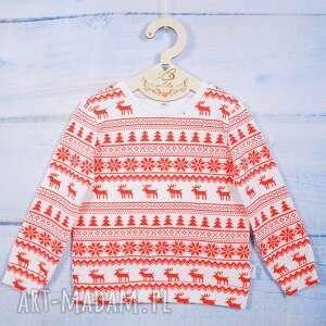 bluza dziecięca - wzory świąteczne, w świąteczny wzór, renifery