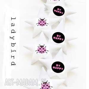 LADYBIRD pink - girlanda BIEDRONKA, girlanda, biedronka, gwiazdki, ladybird