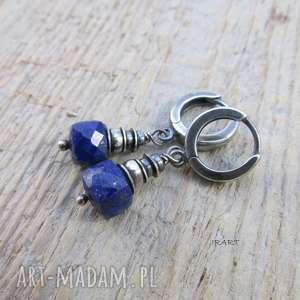 lapis lazuli - kolczyki, lazuli, kolczyki srebrne, ze srebra