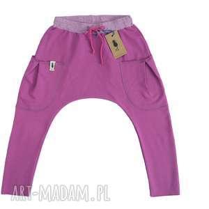 ubranka spodnie baggy fuksja, baggy, spodnie, bojówki, dziewczynka, haremki, dziecko