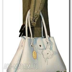 do ręki nowos elegancka, gustowna torba jasnoszara, filc, torba, torebka, hanmade