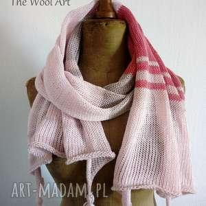 zwiewny szal - szal, szalik, na lato, na szyję, bawełniany, prezent