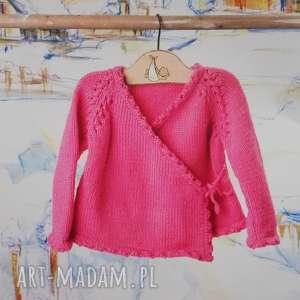 Prezent Sweterek Melilla, sweterek, merynos, bawełna, niemowlęcy, dziergany, prezent