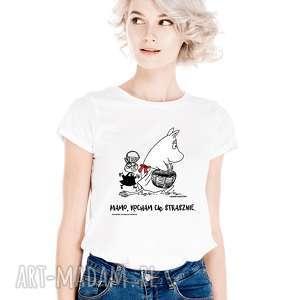 ręczne wykonanie koszulki licencjonowana koszulka damska muminki dla mamy mamo kocham cię