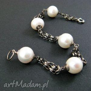 duże perły bransoleta, perły