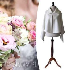 pod choinkę prezent, ślubna peleryna, poncho, narzutka, ślub, tkanina