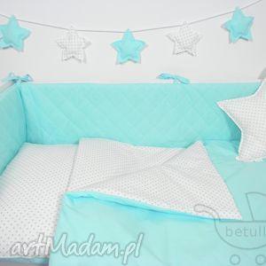 ochraniacz do łóżeczka pikowany turkusowy - ochraniacz, łóżeczka
