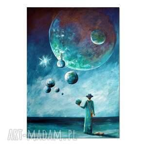 zaproszenie, oryginalny obraz ręcznie malowany, surrealizm, obraz