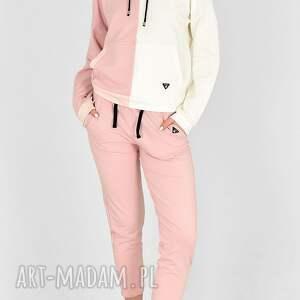 hand-made sportowe dres fifty ecri/róż