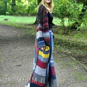 kardigan-płaszcz-wełna, sweter, płaszcz, wełna, kardigan, na drutach